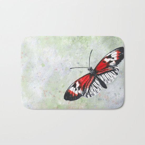Piano key Butterfly Bath Mat