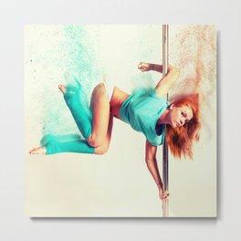 Pole Dance Metal Print