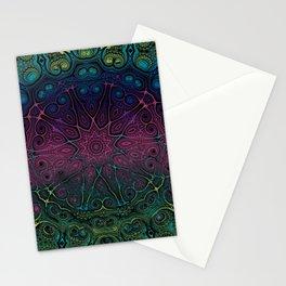 Decorative Kaleidoscope Mandala Gradient Stationery Cards