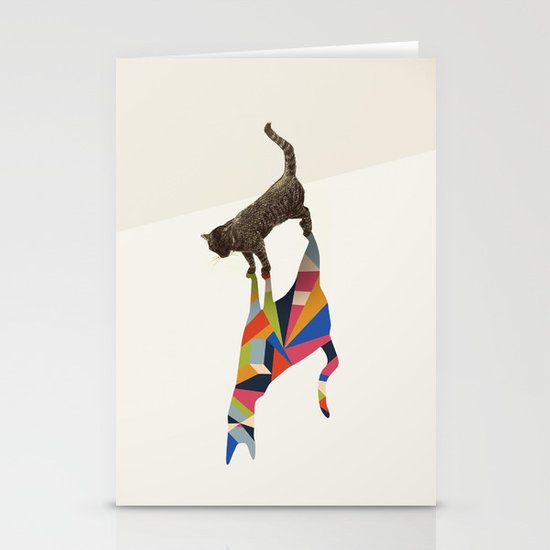 Walking Shadow, Cat Stationery Cards