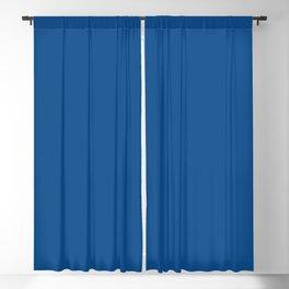 Solid Bright Lapis Blue Color Blackout Curtain