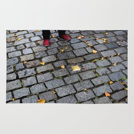 Red Shoes and Stumbling Stone Rug