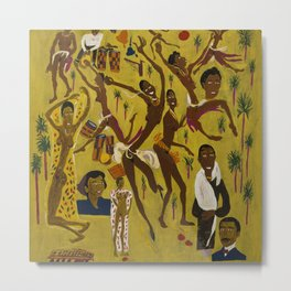 African American Masterpiece 'Three Great Dancers' by William Johnson Metal Print