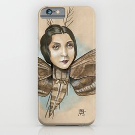 MOTH LADY iPhone Case
