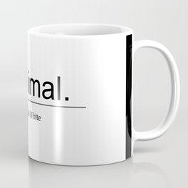 Designer Color: Black & White Coffee Mug