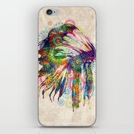 vintage mandala headdress iPhone Skin