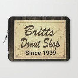 Britt's Donut Shop Sign 3 Laptop Sleeve