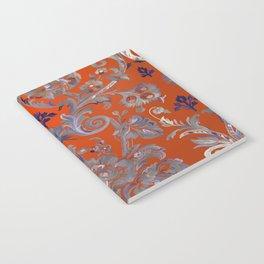 Painted Tibetan Brocade orange Notebook