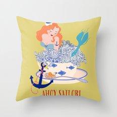 Ahoy Sailor! Throw Pillow