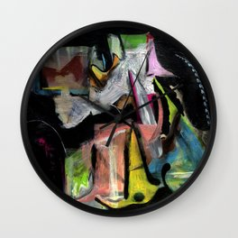 Birds of Paradise (oil on canvas) Wall Clock