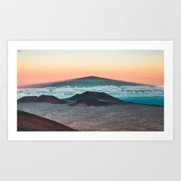 Mauna Kea Shadow Art Print