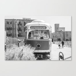 On the Waterfront Trolley Canvas Print