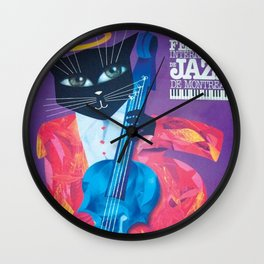1994 Montreal Jazz Festival Cool Cat Poster No. 1 Gig Advertisement Wall Clock