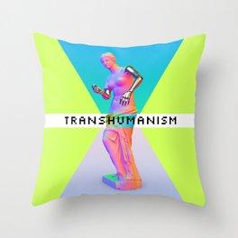 Maquinus Transhumanism ENG Throw Pillow