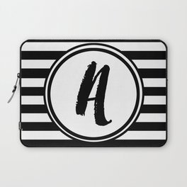 A Striped Monogram Laptop Sleeve
