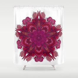 Pink Indian Mandala Shower Curtain