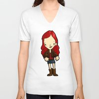 amy poehler V-neck T-shirts featuring AMY by Space Bat designs