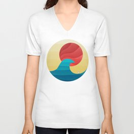 062 - The perfect summer wave Unisex V-Neck