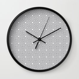 Beautiful Pattern #27 Silver Geometry Pattern Wall Clock