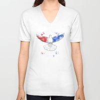 politics V-neck T-shirts featuring Dove Politics by Caravan Tshirts