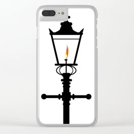 Victorian Isolated Gaslight Clear iPhone Case