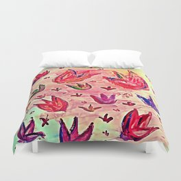Tulips in my head Duvet Cover