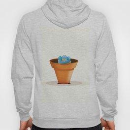 Pretty Blue flower in a pot Hoody