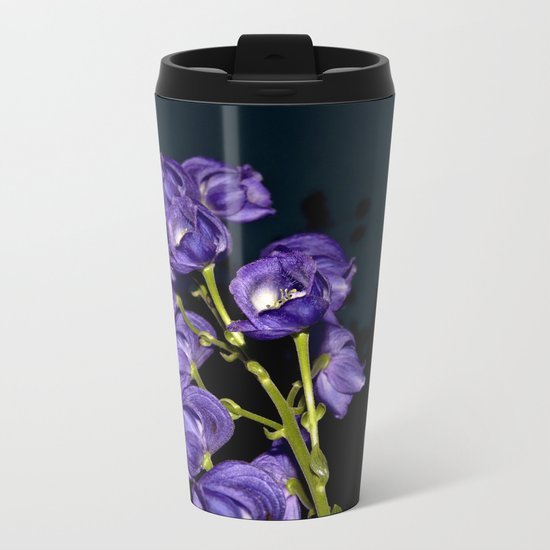 Dark Purple Elegance Metal Travel Mug