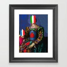 French Italian Pop Remix of Classical Painting of Bronzino Framed Art Print