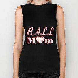 Ball Mom Love Softball Baseball Mother's Day Gifts Biker Tank