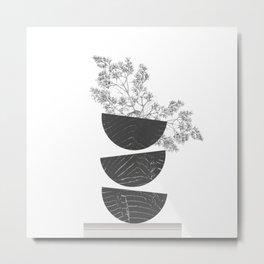 Vibration - Minimalism Mid-Century Modern Forms Metal Print