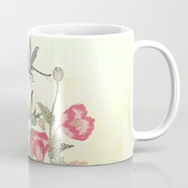Butterfly and flowers -The Still Point Coffee Mug