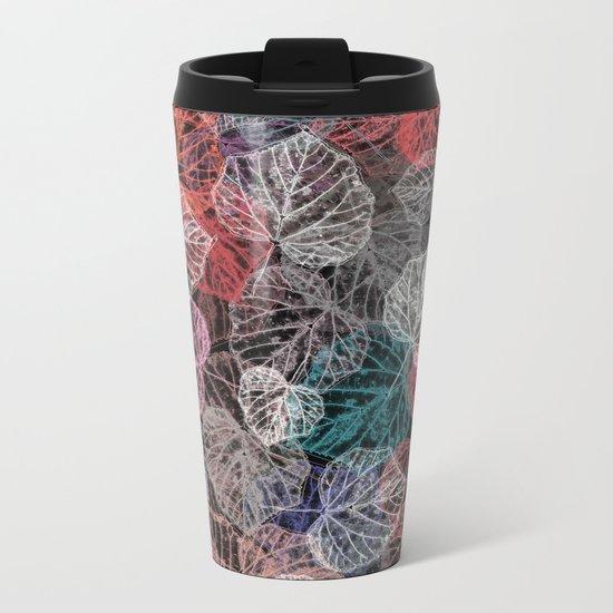 Leaf mosaic(25). Metal Travel Mug