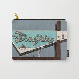 Vintage Neon Sign - The Drifter - Silver City Carry-All Pouch
