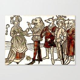 Circe in De claris mulieribus Canvas Print