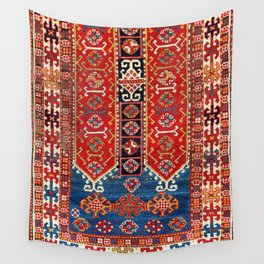 Kazak Southwest Caucasus Carpet Fragment Print Wall Tapestry