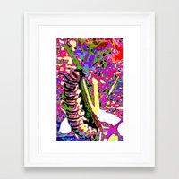 matisse Framed Art Prints featuring Matisse Caterpillar by Ellen Turner