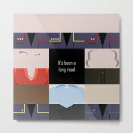 It's been a long road - square - Star Trek: Enterprise ENT - startrek Trektangle minimalist  Metal Print