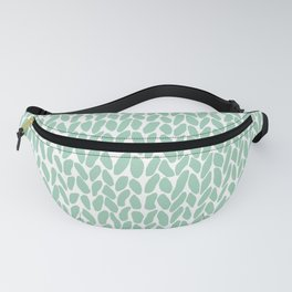 Hand Knit Zoom Mint Fanny Pack