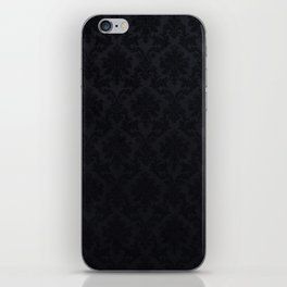 Black damask - Elegant and luxury design iPhone Skin