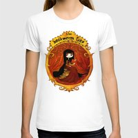 bookworm T-shirts featuring The bookworm lady by CottonValent