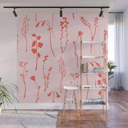 Botanical Blush #illustration #pattern Wall Mural