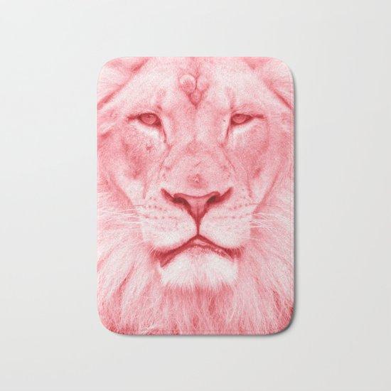 Pink lion Bath Mat