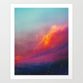 Rise of night Art Print