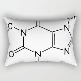 Caffeine Molecule Rectangular Pillow