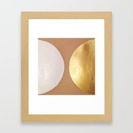 Moon and Sun Abstract Framed Art Print