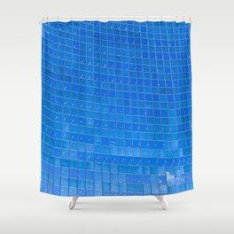 Blue Windows Shower Curtain