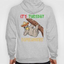 Tuesday Somewhere - Cinco De Mayo Sloth Hoody