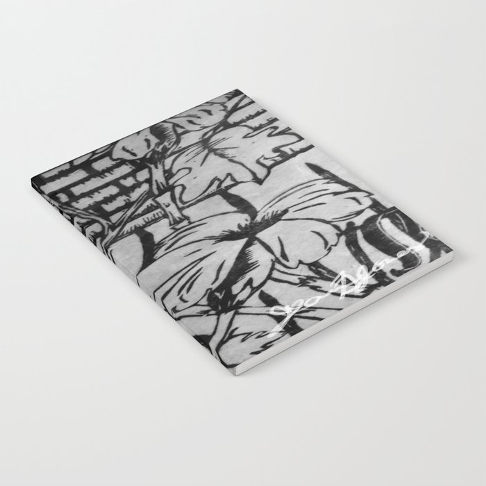 Black and White Palm Flowers by my Mom Notebook