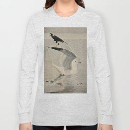 Vintage Illustration of a Seagull (1902) Long Sleeve T-shirt